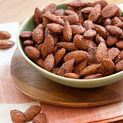 Chipotle Roasted Almonds make a great sweet, salty and smoky snack.