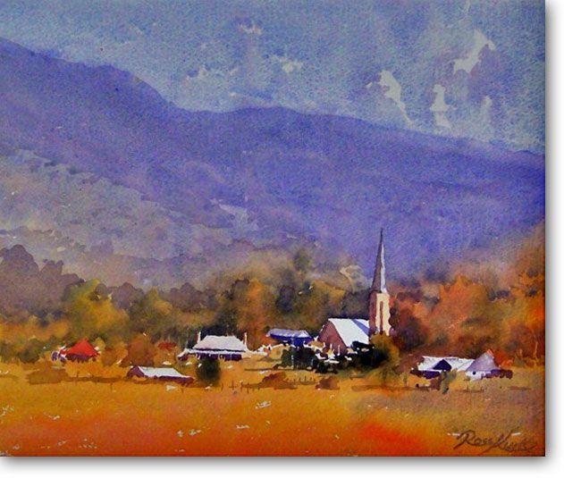 Mudgee Town -  - Ross Kurtz, Watercolour Paintings by Australian Artist - Acrylic Paintings for Sale Online