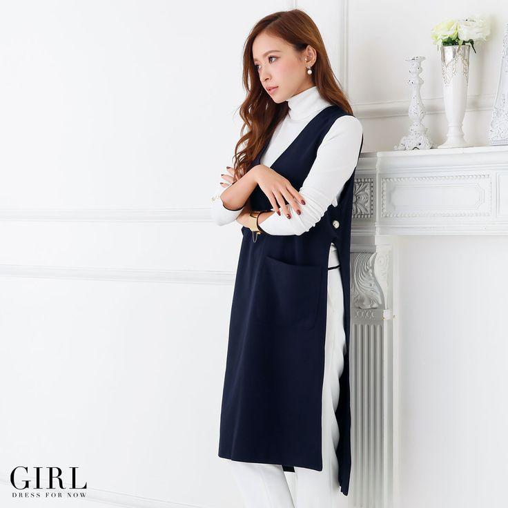 GIRL ロングジレ ●価格 11,869円(税込)●サイズ:フリー ●カラー:テラコッタ/ネイビー