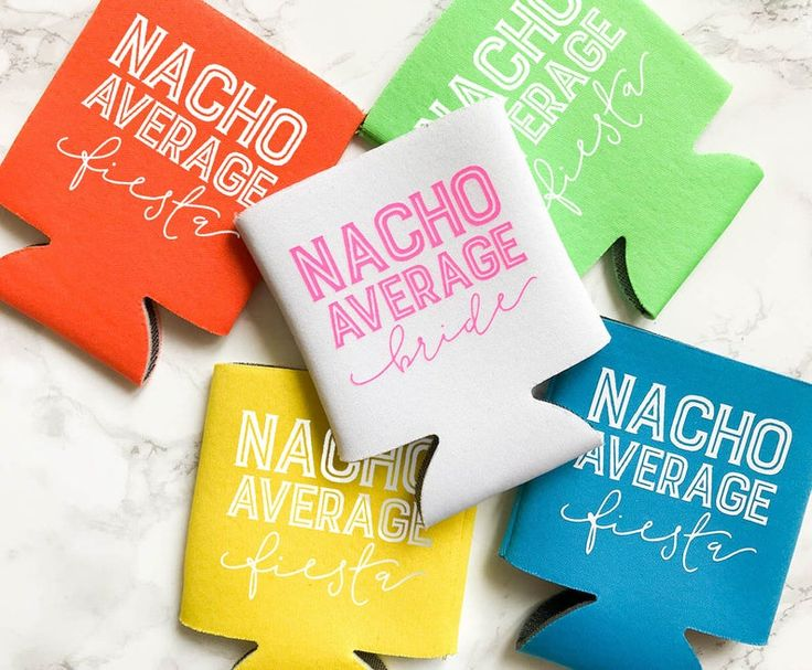 Nacho Average Fiesta Can Coolers   Beer Can Cooler  Summer Can Cooler   Final Fiesta Bachelorette Party   Nacho Average Bride
