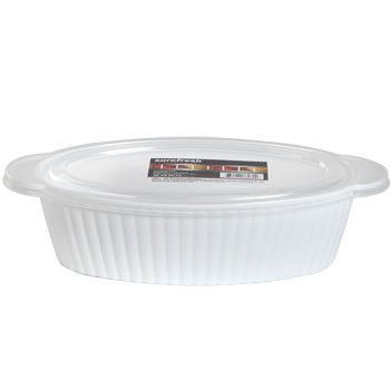 Sure Fresh Professional Oval Plastic Container with Lid, 53 oz.
