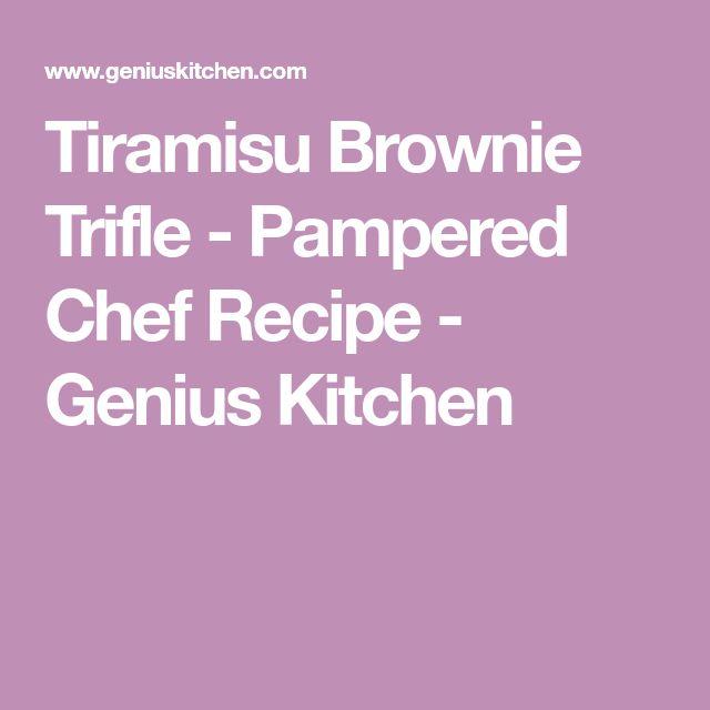 Tiramisu Brownie Trifle - Pampered Chef Recipe - Genius Kitchen