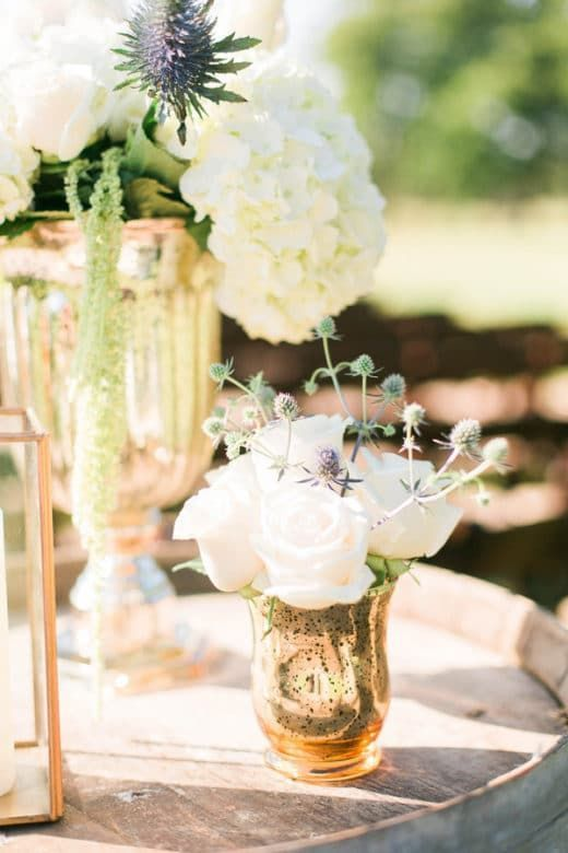 Glamorous Outdoor Barn Wedding Rustic CenterpiecesRustic