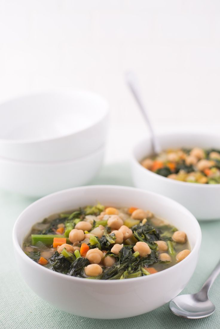 Alice Waters' Chickpea and Broccoli Rabe Soup