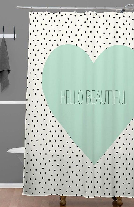 'Hello Beautiful' Shower Curtain - would be perfect for my bathroom