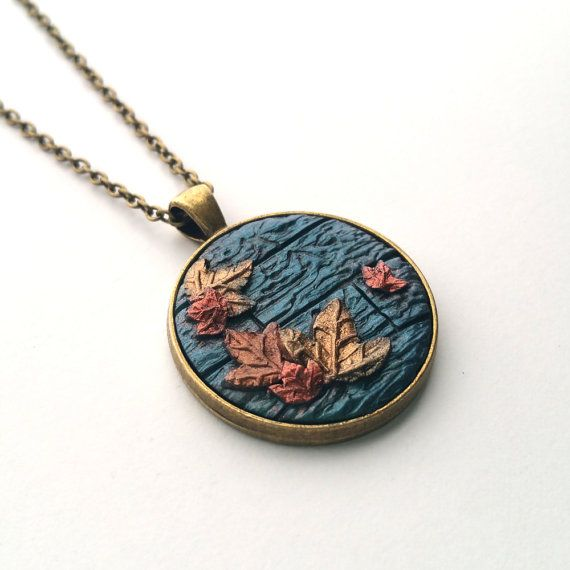Hey, I found this really awesome Etsy listing at https://www.etsy.com/listing/473453555/autumn-leaf-woodland-pendant-necklace