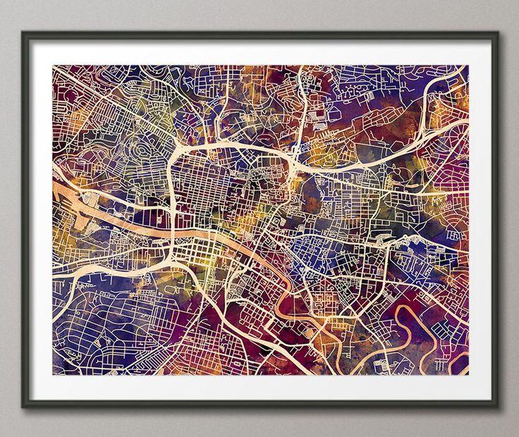 Glasgow Map, Scotland, Glasgow City Street Map Art Print (1545) by artPause on Etsy https://www.etsy.com/listing/222598641/glasgow-map-scotland-glasgow-city-street