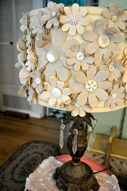 fabulous funky lamp shade, maybe even do this on one of my handbags