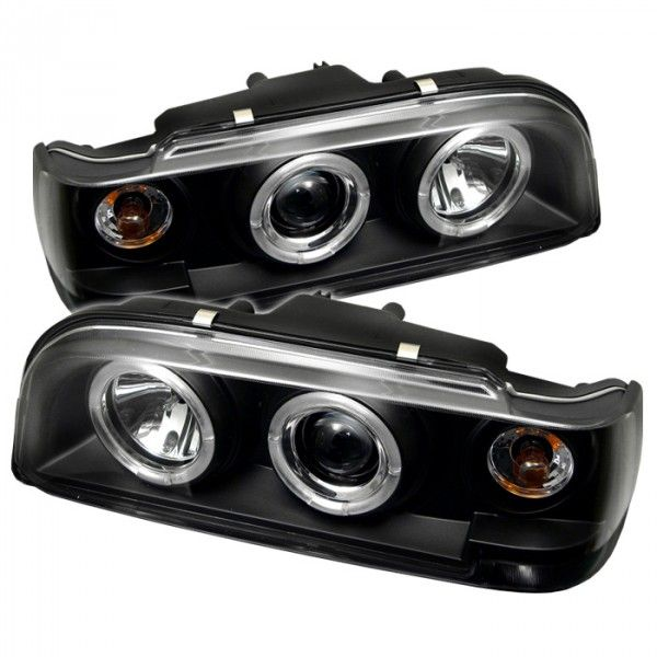 Spyder Auto 444-VO85092-HL-BK | 1994 Volvo 850 Black Halo Projector Headlights for Sedan