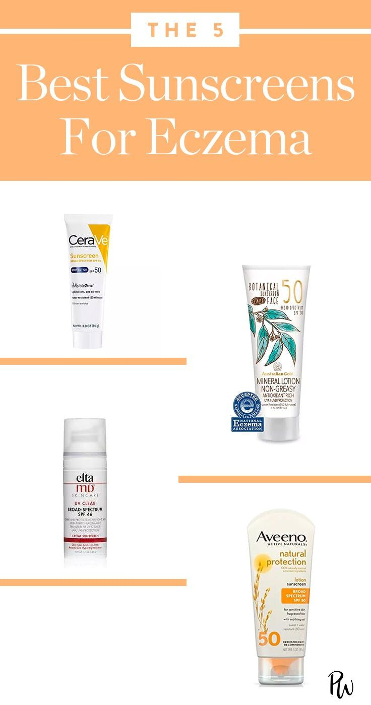 5 Of The Best Sunscreens For Eczema Sufferers Purewow Skin Beauty Sunscreen Summer Face Products Skincare Best Sunscreens Eczema Lotion