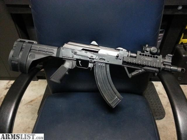 SB47 Stabilizing brace on PAP M92PV AK pistol with MI US Palm forearm