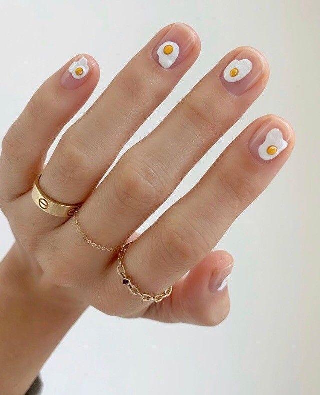 Refinery29 Uk On Instagram Eggs For Breakfast Nailed It By Betina Goldstein Minimalist Nails Minimalist Nail Art Manicure