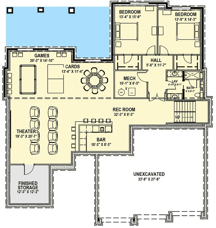 prairie house plan for a rear sloping lot house design and masters
