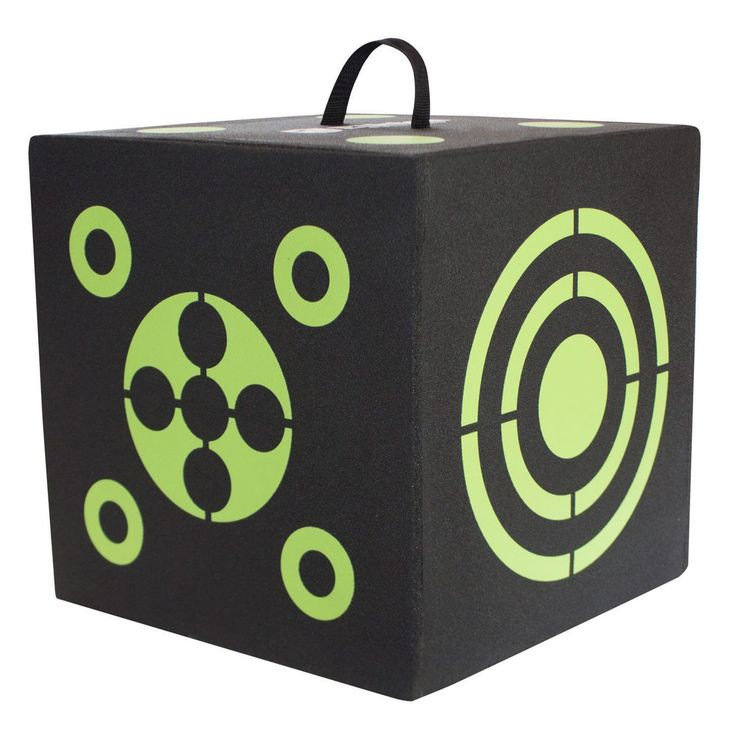 6-Sided 3D Cube Reusable Archery Target  All Arrow Types Compound Crossbow Hunt #ElktonOutdoors