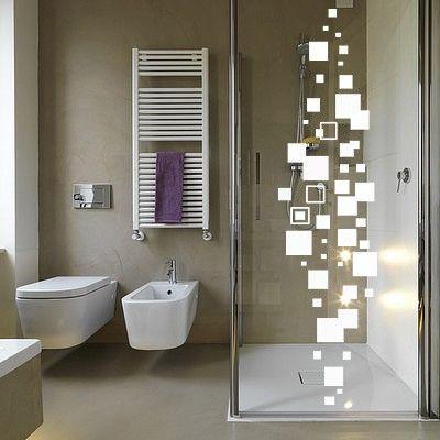 Sticker pour cabine de douche craquez pour un mod le - Sticker pour salle de bain ...