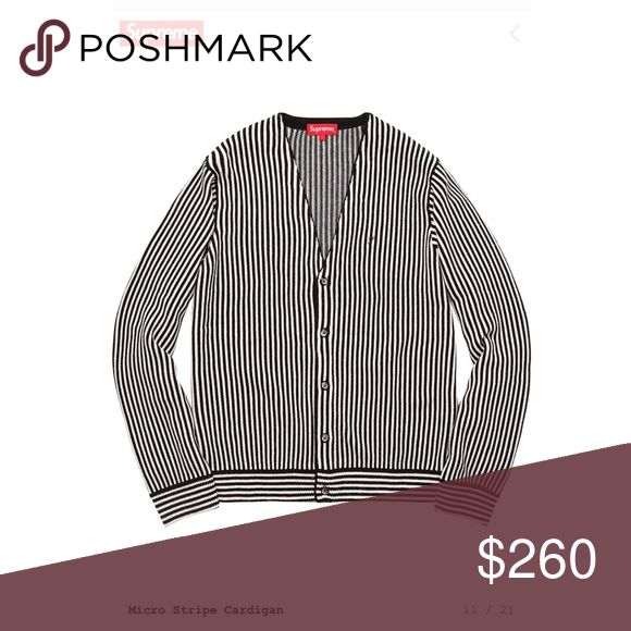 Brand new Supreme micro stripe cardigan Sold out online. Men's/unisex large. 100% authentic from supreme store. Supreme Sweaters Cardigans