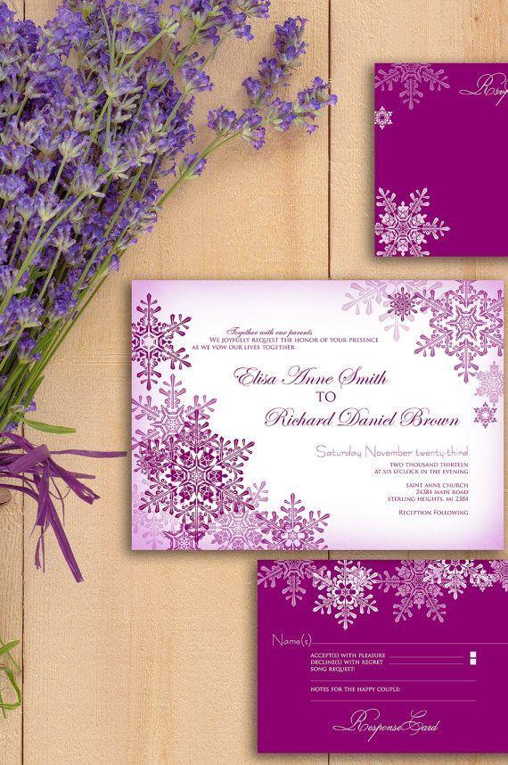Зимние пригласительные на свадьбу