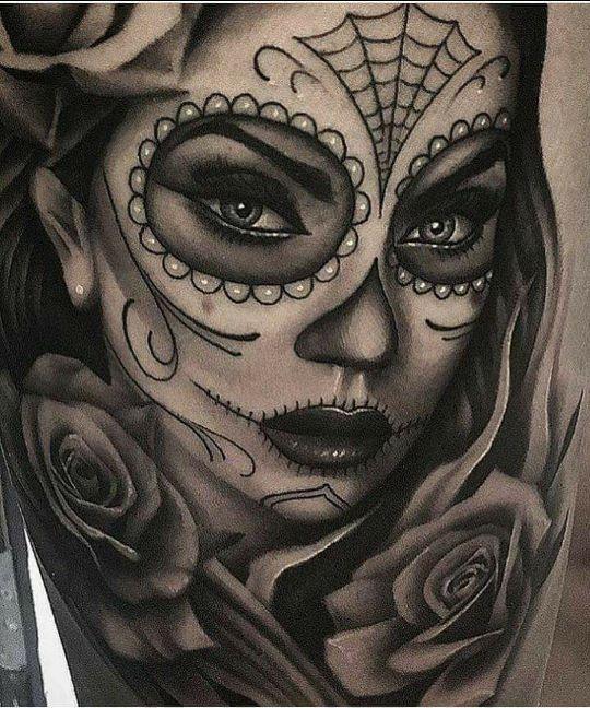 Skull woman tattoo – #geisha #Skull #Tattoo #Woman