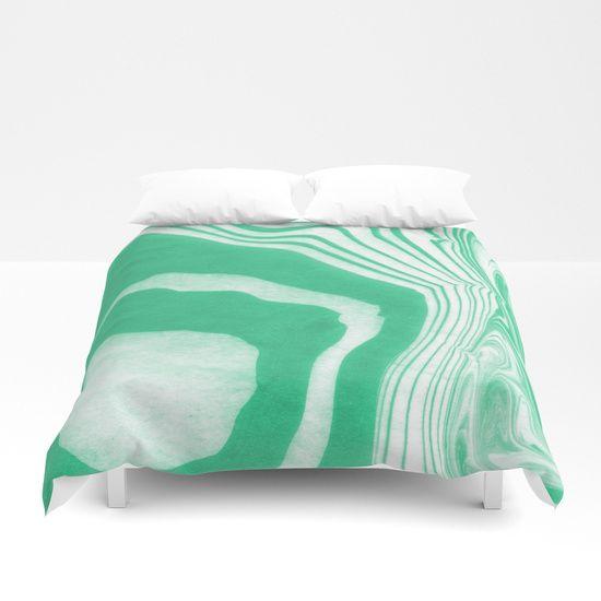 Akihiko - spilled ink abstract watercolor marble paper marbling ocean water waves sea minimal  Duvet Cover