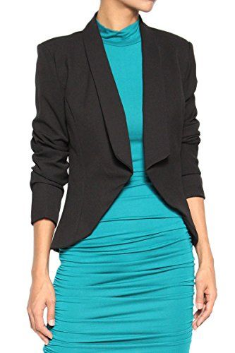 New Trending Outerwear: TheMogan Women's Double Breasted Tuxedo Suiting Blazer Jacket Black M. TheMogan Women's Double Breasted Tuxedo Suiting Blazer Jacket Black M  Special Offer: $26.99  466 Reviews Made to top any outfit, this must-have blazer is an essential go-to for polished style.An elegant option in a fitted, cropped silhouette give this polished look a hint of...