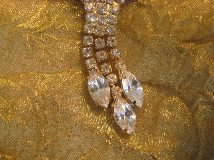 Evening Marquis Prong Set Vintage Rhinestone Necklace