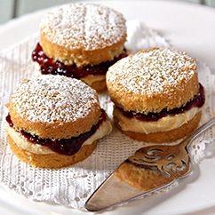 Mini strawberry and rose water sponge cakes recipe   BakingMad