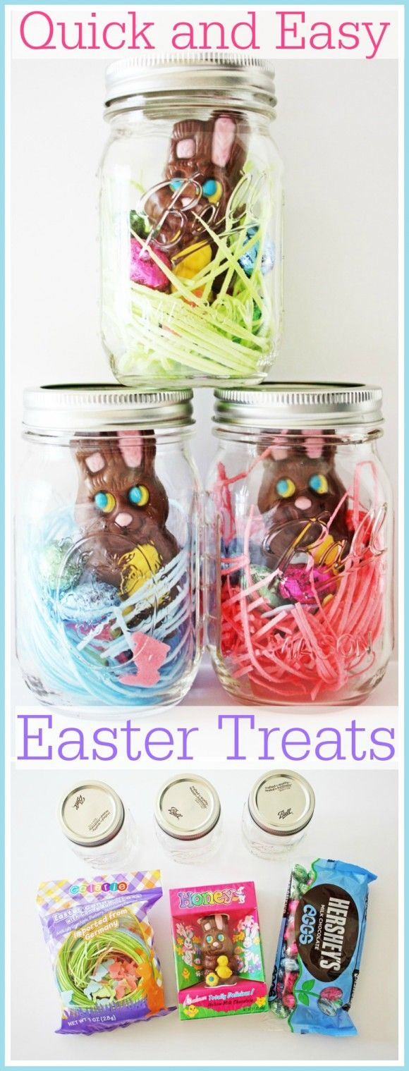 56 best mason jars easter images on pinterest easter crafts quick and easy mason jar easter treats easter diy basketseaster negle Choice Image