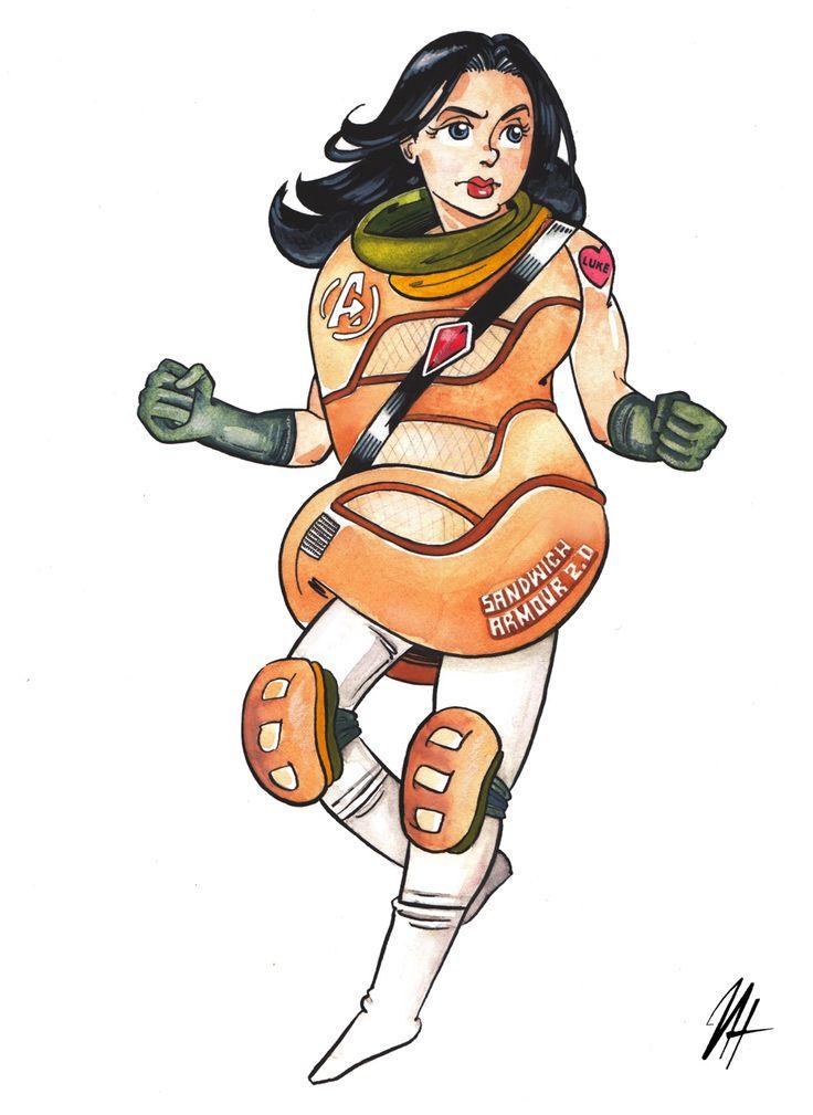 Art by Harri Hakala — Jessica Jones fan art as promised!   A modernized version of the hoagie outfit for next Avengers!