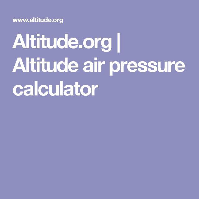 Altitude.org | Altitude air pressure calculator
