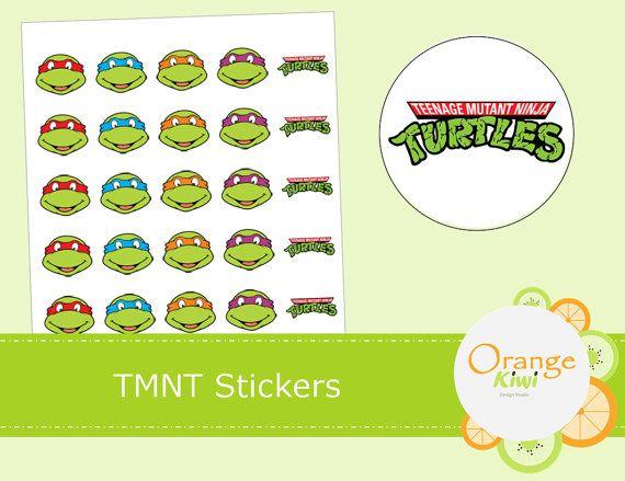 Teenage Mutant Ninja Turtles Stickers  TMNT by OrangeKiwiDesign