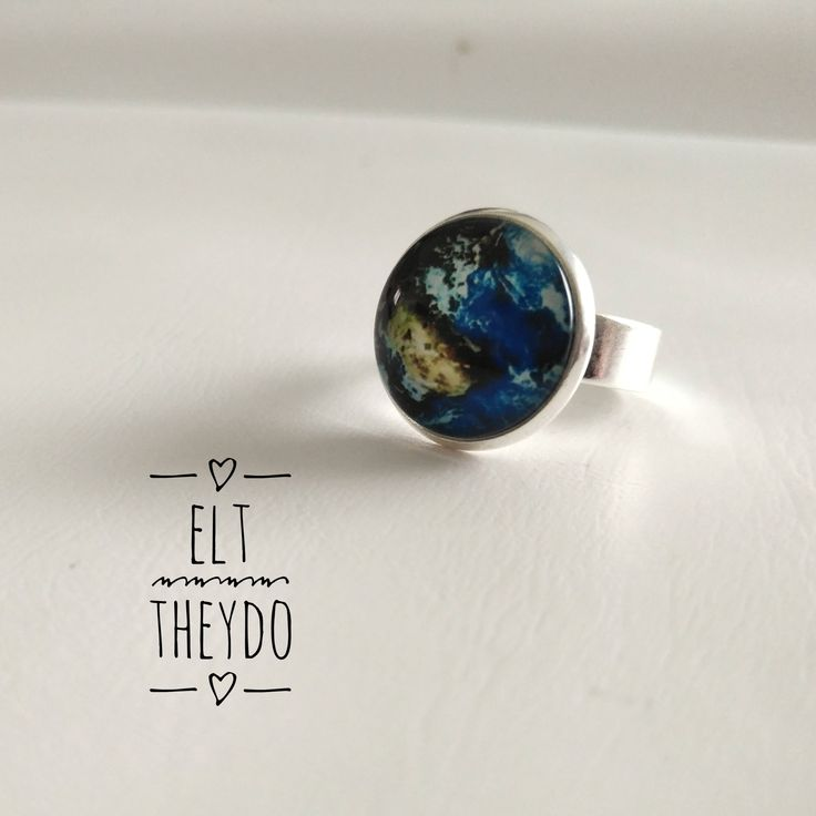 Spring coloroful ring Adjustable ring Cabochon ring di ELTStore su Etsy