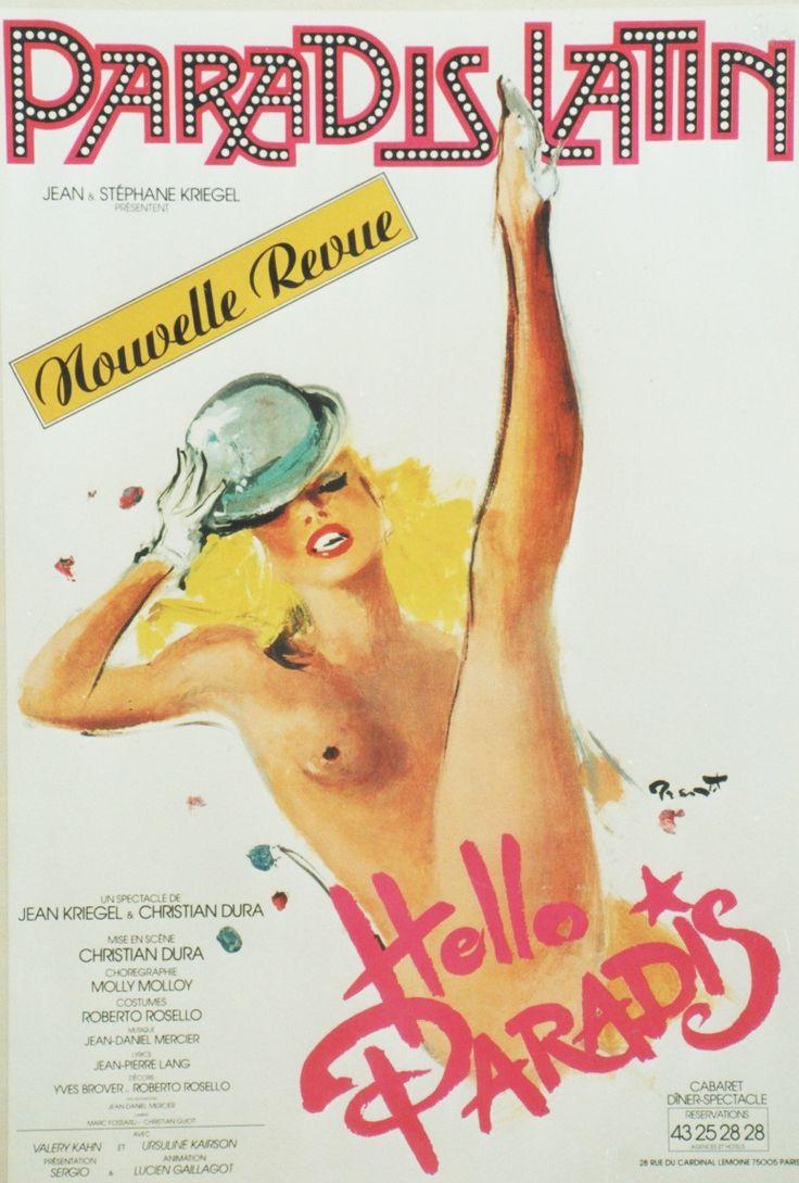 """Affiche de """"Hello Paradis"""" du Paradis Latin par Pierre-Laurent Brenot"""