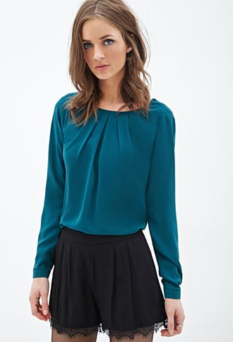 Pleated Woven Top | FOREVER21 - 2000102345