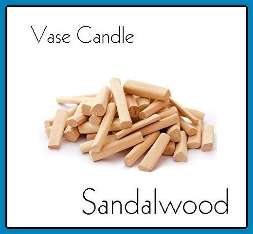 Sandalwood Candle - Vase Candle Refill - Scented, Soy, Paraffin Wax Blend, Paper Core, Self-trimming Wick Candle for Refillable Vase, 50 Hour Burn Time, Free Shipping - Venue and reception decor (*Amazon Partner-Link)