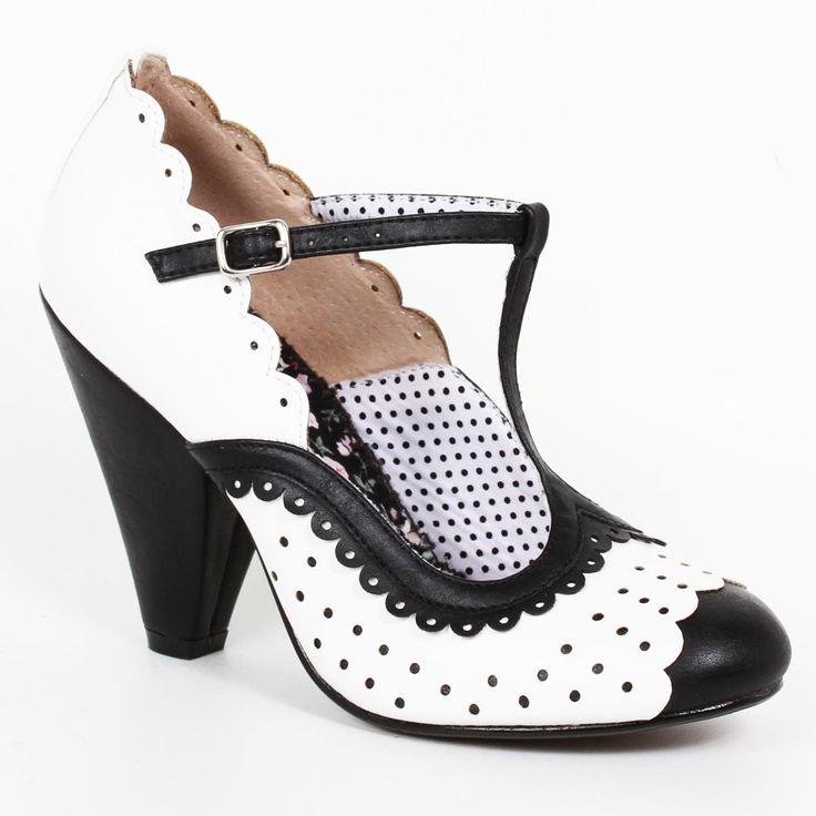 Bettie Page Paige Shoes - Black | US sizes 6, 7, 8, 9, 10, 11
