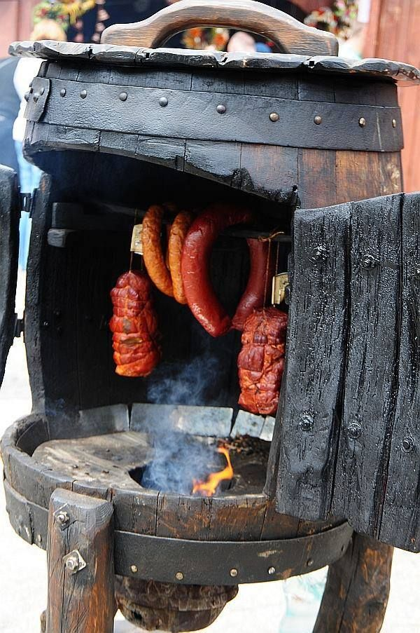 Medieval smoker for meats, and fish.