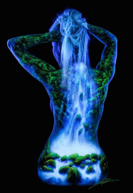 John Poppleton's black light body art photography is absolutely stunning, and takes an incredible amount of skill to both paint and shoot. http://petapixel.com/2014/06/20/bodyscapes-spectacular-black-light-body-art-photography-john-poppleton/