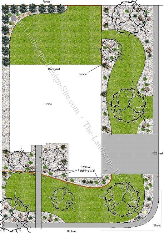 Best 25 front yard landscape design ideas on pinterest diy landscaping rocks florida - Garden design corner ...