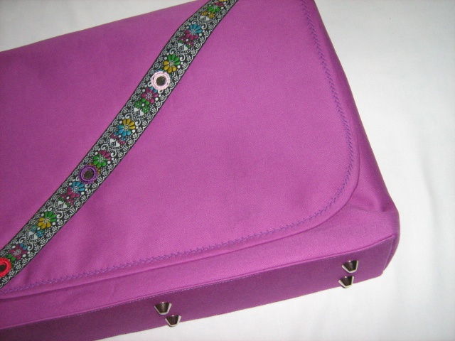 Purple Retro Mirror Lappy Bag Contact Sara at zeppelinism.net to purchase