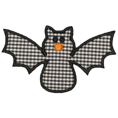 By Category :: Holidays & Special Occasions :: Halloween :: Bat Applique - Embroidery Boutique