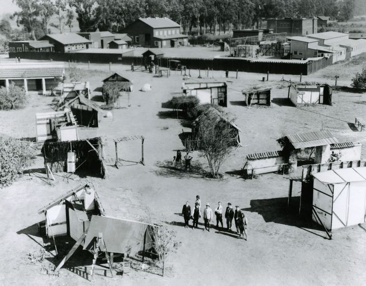 Photograph Movie Pinterest: Historic Photograph Of The Backlot Of Clune Studios On