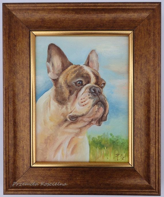 French Bulldog DOG PORTRAIT  Original Oil by CanisArtStudio #dog #frenchbulldog #dog portraits #art #canisartstudio #etsy