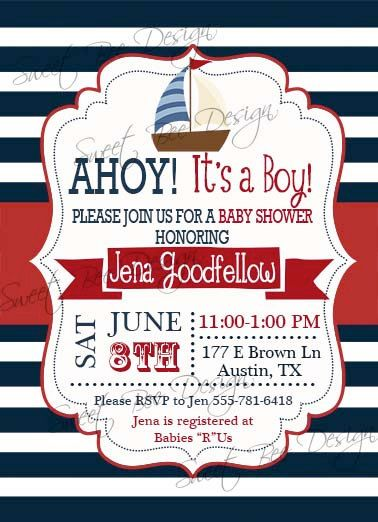 nautical baby shower invitation nautical baby shower invitation boy or girl nautical baby shower