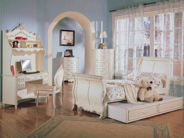 Girls White Bedroom Furniture Set Fine. The Alexandria Bedroom White Pearl  Collection Will Make A