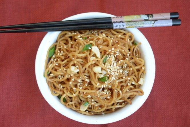 Sesame Peanut Noodles | India Food | Pinterest