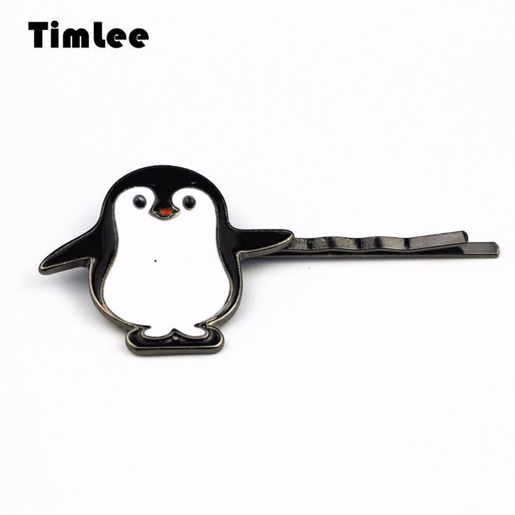 Timlee H116 Free Shipping  Black Penguin Hairpin Hair Clip Hair Accessory Wholesale HY #Affiliate