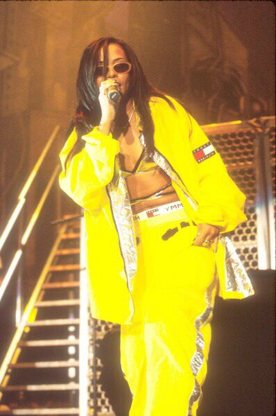 Aaliyah in Yellow Tommy Hilfiger Jacket + Pants