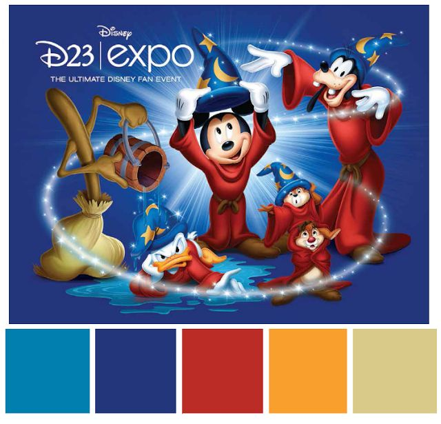 Poster Palette - D23 2013 - Inspired By Dis