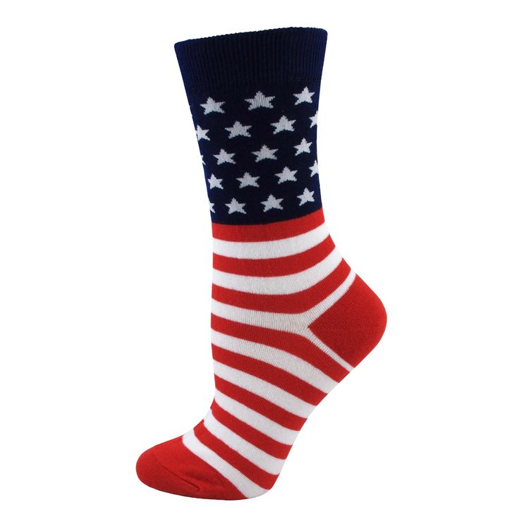 Absolute Socks - American Flag Socks / Ladies, $7.99 (http://www.absolutesocks.com/womens-socks/novelty-socks-for-women/ladies-american-flag-socks/american-flag-socks-ladies/)