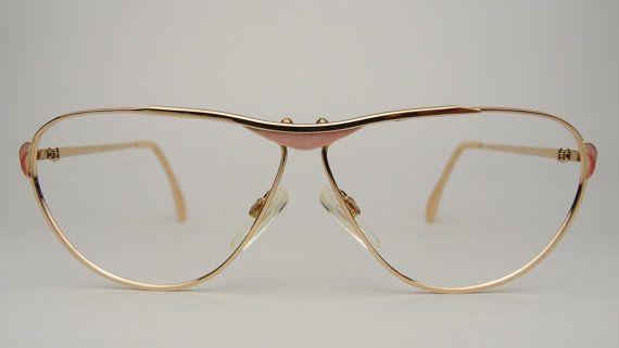 VTG Brendel vrouwen zonnebril brillen Frames West-Duitsland optische Eyewear roze gouden Toon metalen ovale Cat Eye 1980